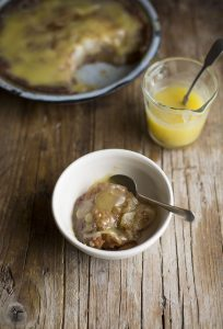 Pear & ginger malva pudding