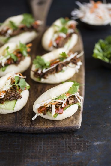 gua bao with hoisin and ginger beer pulled pork
