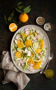 Avocado and orange salad with fennel recipe