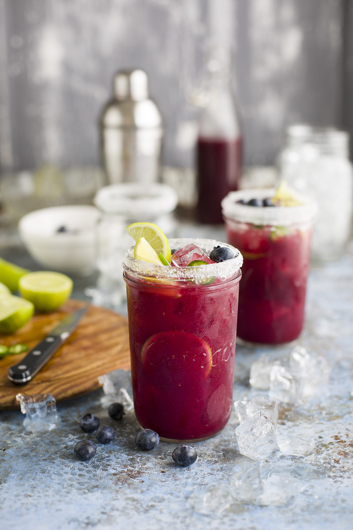 A delicious mixed berry margarita with jalapeño | DrizzleandDip.com
