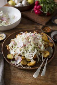 New potato salad with fennel & radish   DrizzleandDip