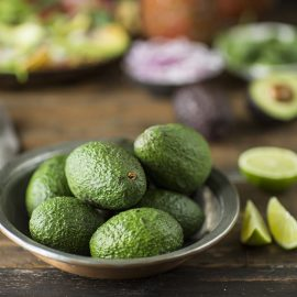 Avocados for a recipe for salad nachos