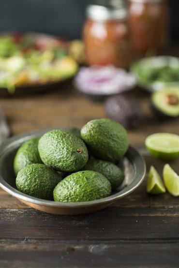 Avocados for a recipe for salad nachos