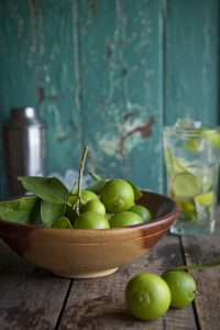 Fesh limes for a basil mojito