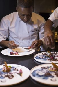 A dinner by Wandile Mabaso's invitation