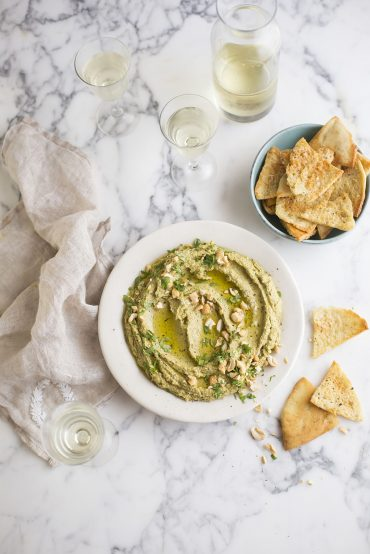 The most delicious chargrilled zucchini hummus