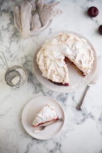 The Louise cake with plum & coconut from Yotam Ottolenghi & Helen Goh's Sweet Cookbook