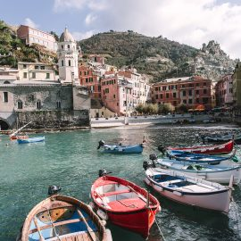 Vernazza harbour, Tinque Terra, Italy