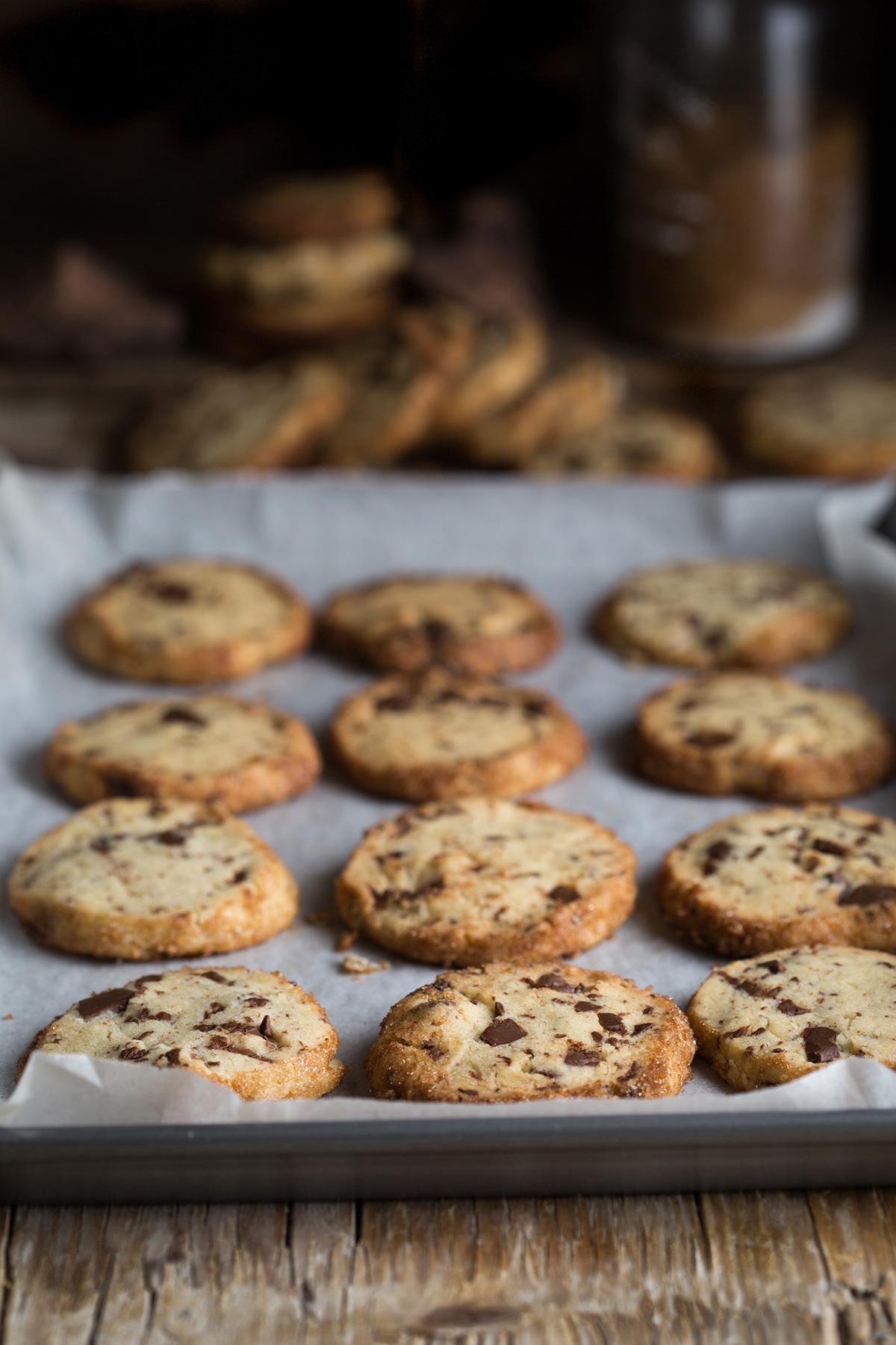 Alison Roman's famous salterd butter & choc chip shortbread cookies
