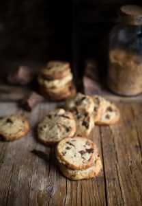Alison Roman's famous salted butter & choc chip shortbread cookies