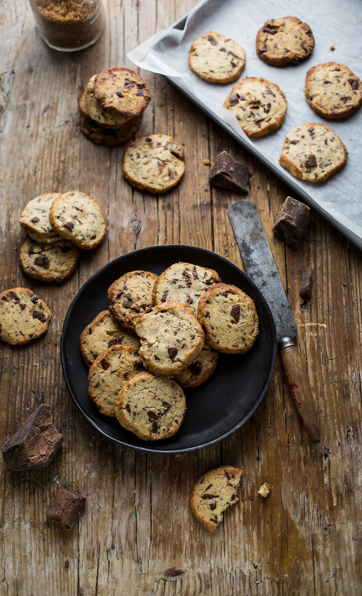 Alison Roman's famous salted butter & choc chip shortbread cookies