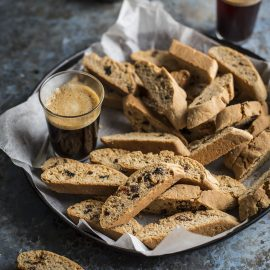 Hot cross bun flavoured biscotti recipe