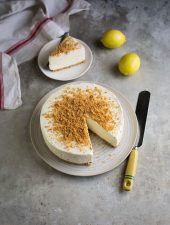 Easy no-churn lemon ice cream cake