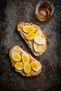 How to make cashew nut butter in a power blender and serve with sliced banana & honey