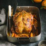 Roast chicken with orange & ginger