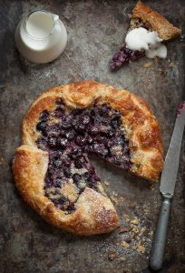 Easy blueberry and frangipane galette