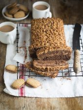 Coffee loaf cake with Cappuccino Romany Creams streusel