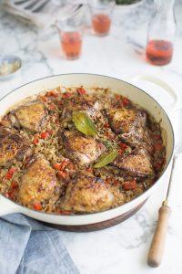 One pot jerk chicken & spicy rice
