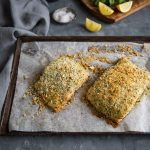 Easy baked salmon with a lemon & herb crumb