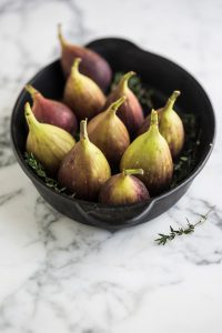 Baked Camembert & figs with a thyme & balsamic glaze recipe
