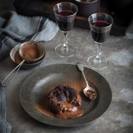 Chocolate fondant with Lindt Lindor