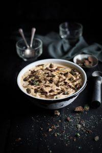 Caramel and peppermint crisp ice cream recipe