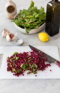 Beetroot tops sautéed with garlic & fennel recipe