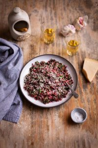 Delicious beetroot tops sautéed with garlic & fennel recipe
