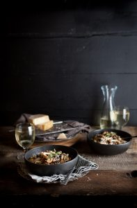 Mushroom & barley risotto as part of my favourite midweek supper recipes