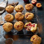 Easy plum yoghurt muffins with a hint of lemon & cinnamon recipe