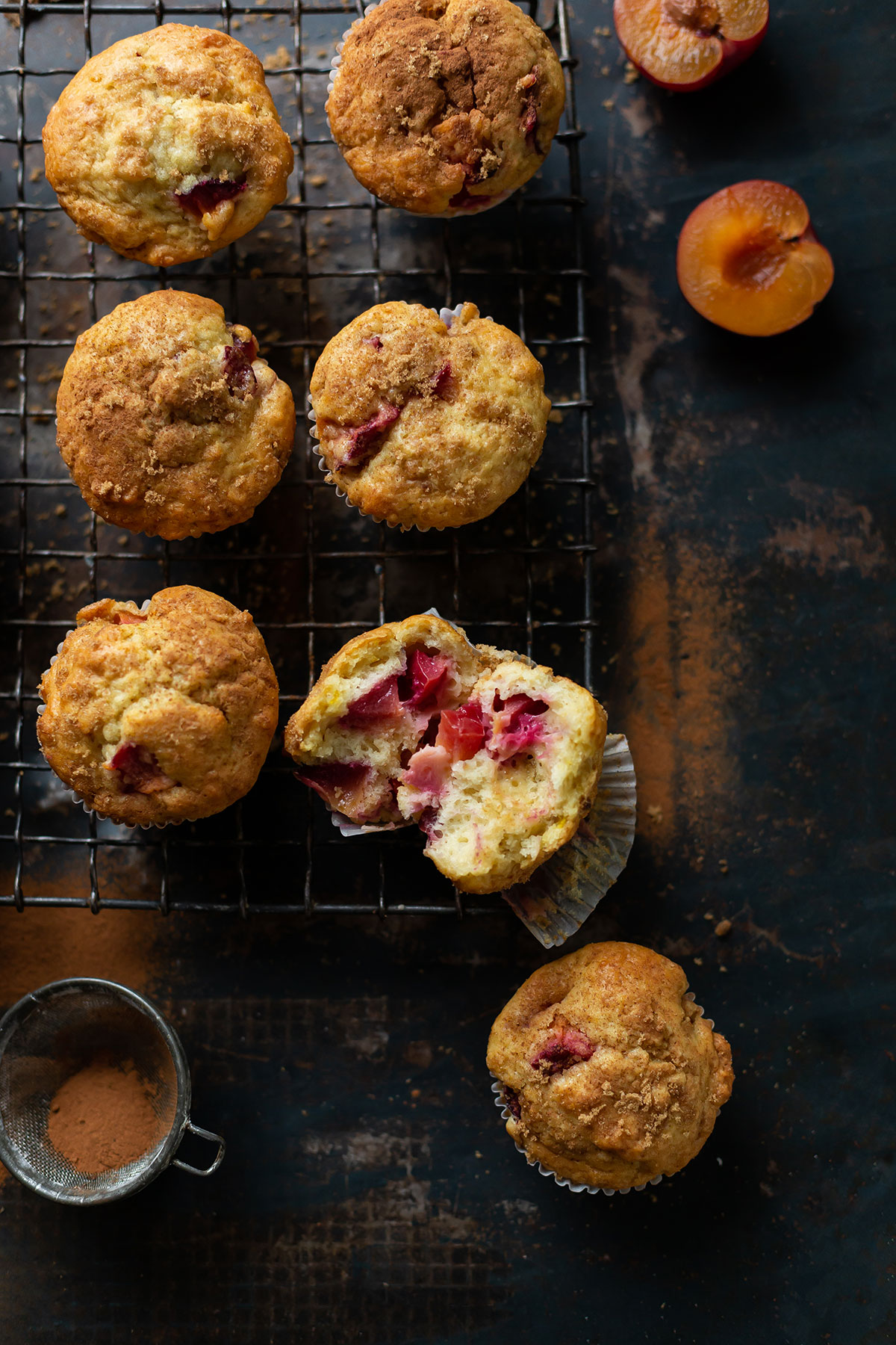Easy plum yoghurt muffins with a hint of lemon & cinnamon recipe