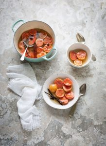 Guavas poached in a chamomile syrup with vanilla & cinnamon recipe