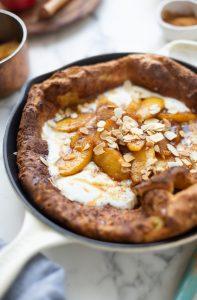 Dutch baby pancake with caramelised Pink Lady® apples & cinnamon recipe