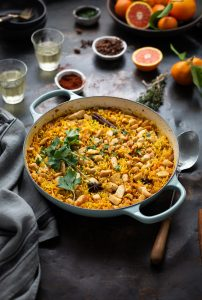Chicken & rice pilaf with orange & spices recipe