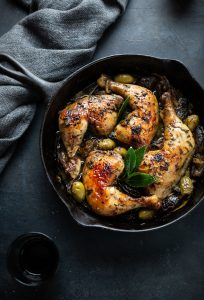 Chicken Marbella with dates, capers & green olives recipe