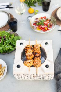 Chicken kebabs with a yoghurt, paprika and lemon marinade