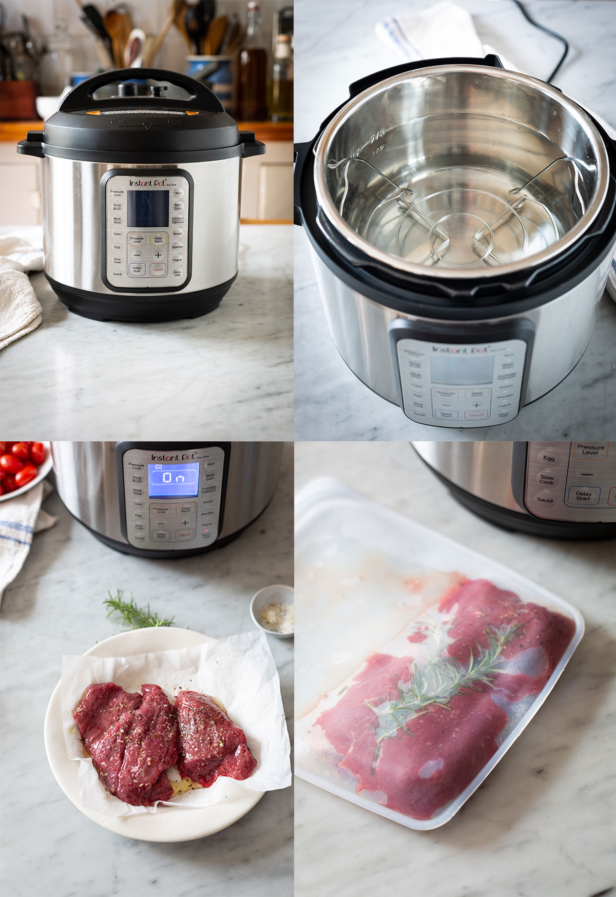 Ostrich steak tagliata recipe & How to cook is sous vide in an Instant Pot