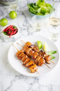 Sous Vide chicken kebabs with soy, ginger, honey & lime recipe