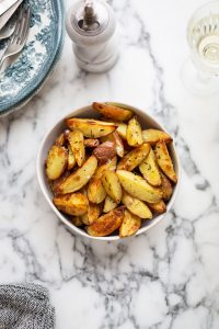 Roasted new potatoes with olive oil & salt