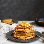 Raisin pancakes with ricotta & orange recipe
