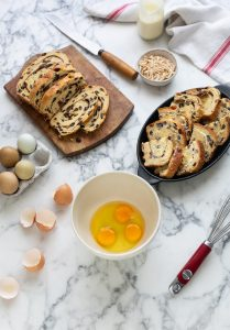 Raisin bread & butter pudding recipe