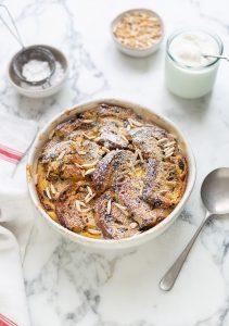 Raisin bread & butter pudding recipe