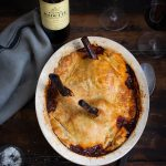 Lamb shank pie with red wine, rosemary & bay recipe