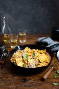 Creamy chicken with ravioli & spinach recipe