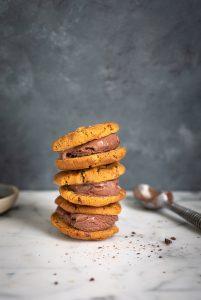 Air fryer chocolate chip cookie ice cream sandwiches recipe