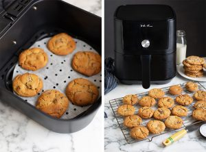 How to make chocolate chip cookies in an air fryer