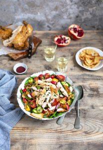 Fattoush salad recipe with roast chicken