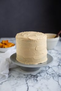 Spiced date cake with cream cheese & honey frosting recipe