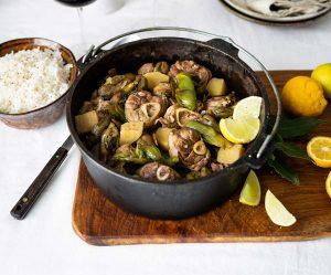 Lamb waterblommetjie potjie recipe